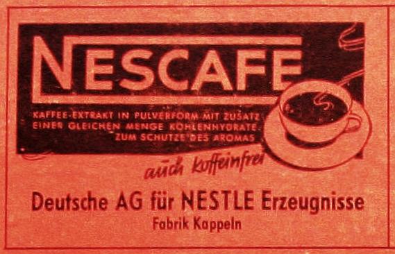 Kappeln - Nestlé-Anzeige (1954)