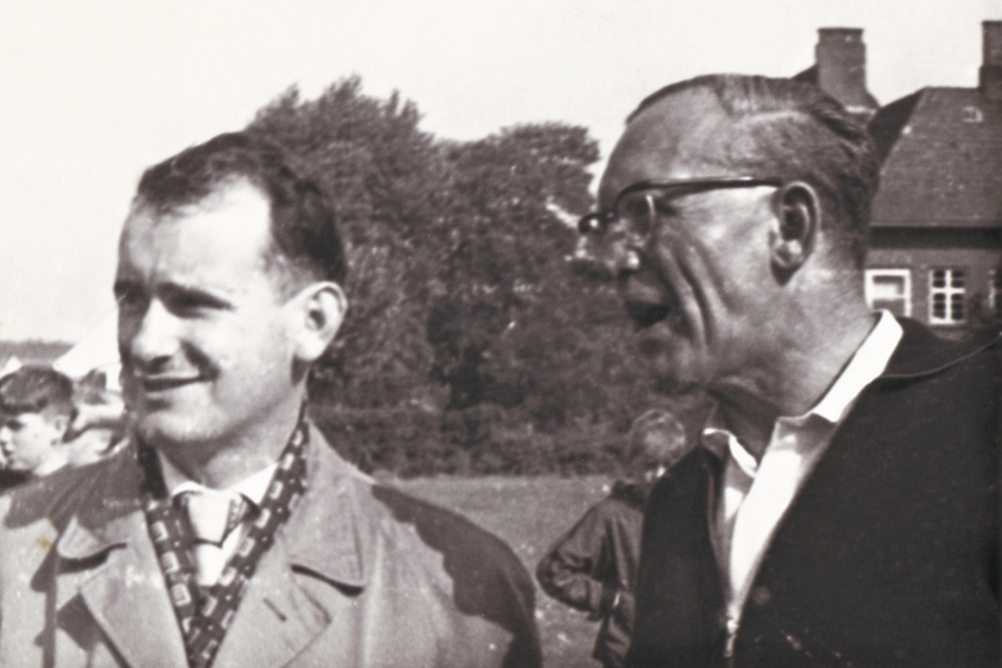 Klaus-Harms-Schule - Willi Lassen mit Hans-Jürgen Tech