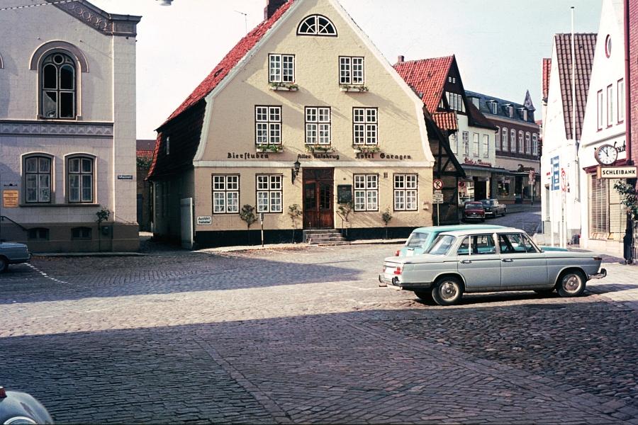 Kappeln - Rathausmarkt - Foto: Jörg Stöckel (ca. 1968)