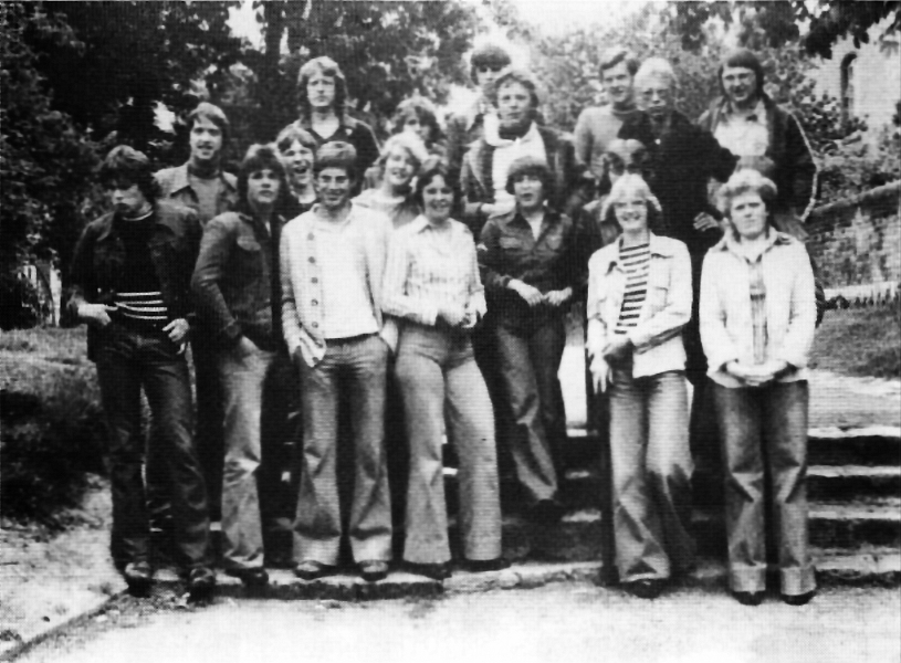 Realschule Kappeln - Abschlussklasse 1977 mit Ingo Gulbins