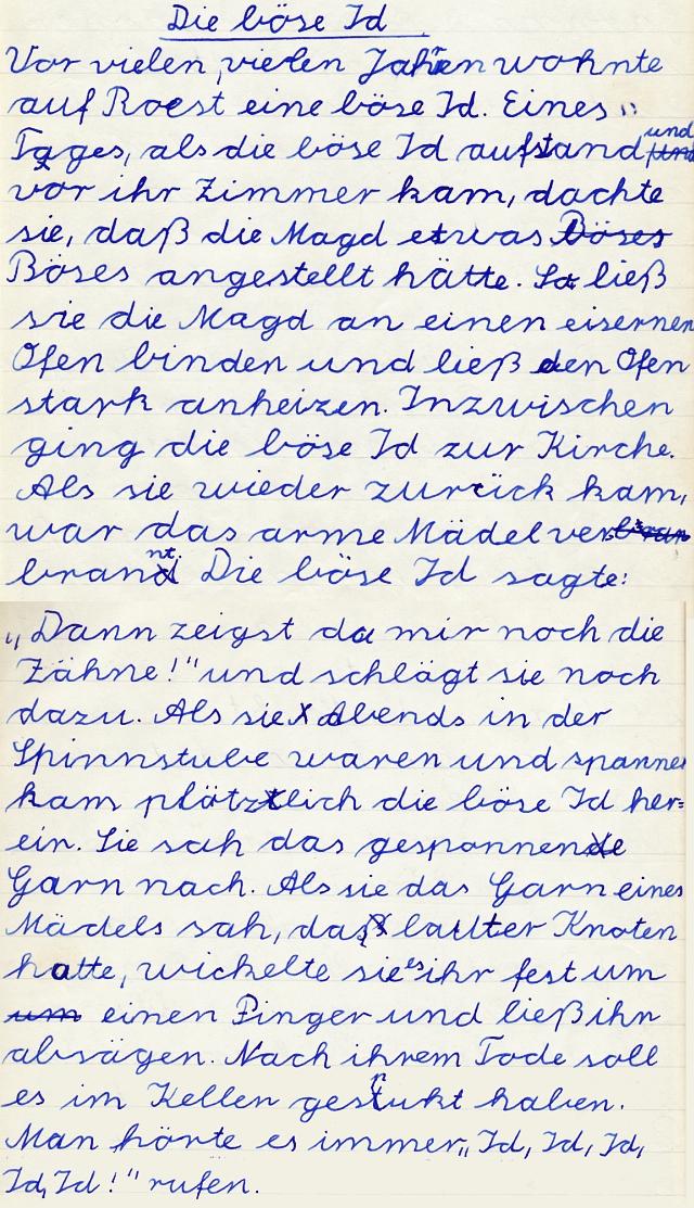 Kappeln - Heimatkundeheft 1958 - Die böse Id