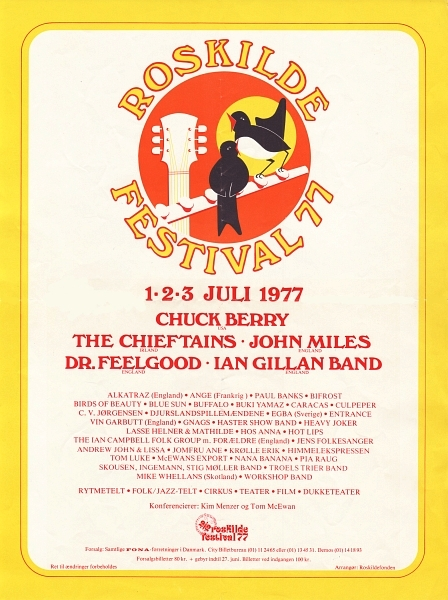 Roskilde Festival 1977 - Poster