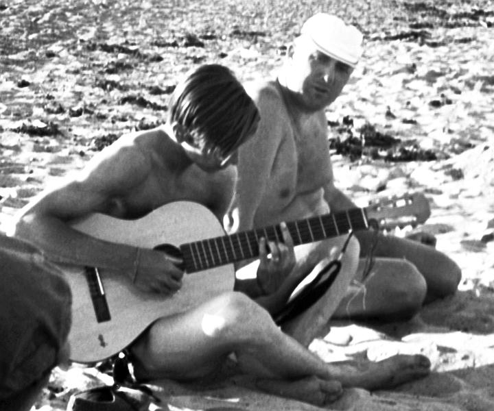 Jürgen Rust und Peter Oesterling - Weidefeld - Foto: Manfred Rakoschek (1968)