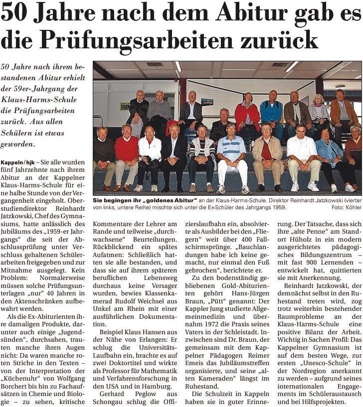 © sh:z/Schlei-Bote/Text und Bild: Hans-Joachim Köhler vom 24.06.2009