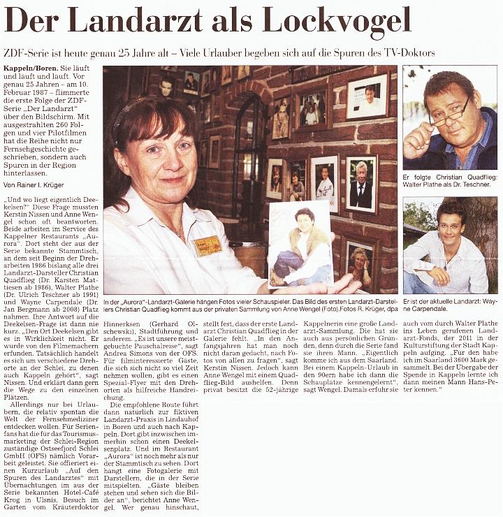 25 Jahre Landarzt - © Kieler Nachrichten vom 10.02.2012