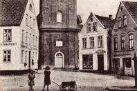 Kappeln - Rathausmarkt 7 - Schlachterei Jessen (um 1912)