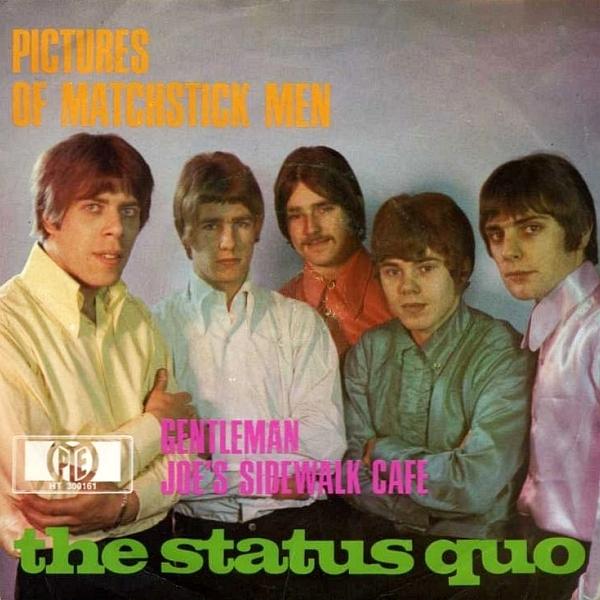 Status Quo - Pictures of Matchstick Men (deutsches Single-Cover)