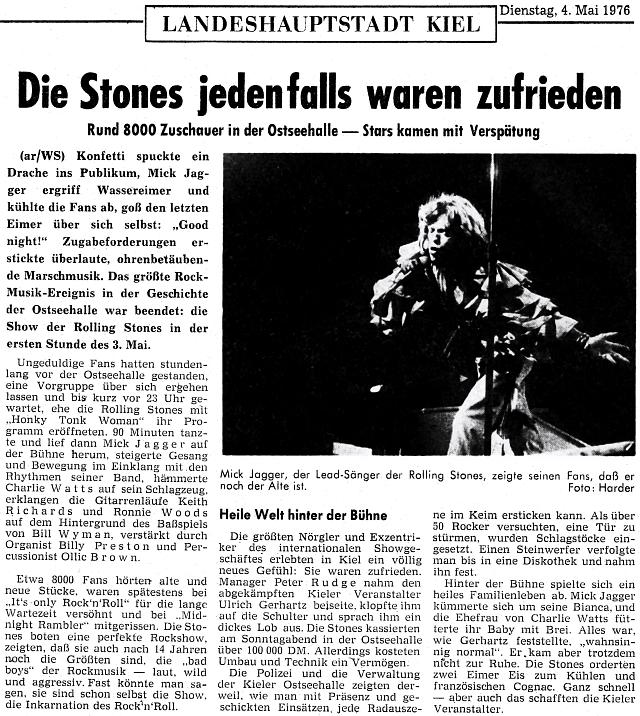 Kieler Nachrichten vom 4. Mai 1976