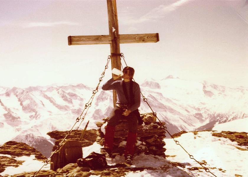 Auf dem Rastkogel (Ostern 1978)
